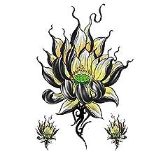 Etiqueta engomada del tatuaje del brazo de flores medio brazo ...