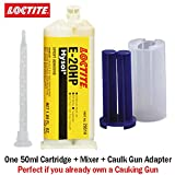 Loctite EA E-20HP (29314) Toughened High-Strength 20-Min Set Off-White Epoxy (50ml/1.7oz) Caulk Gun Adapter Kit