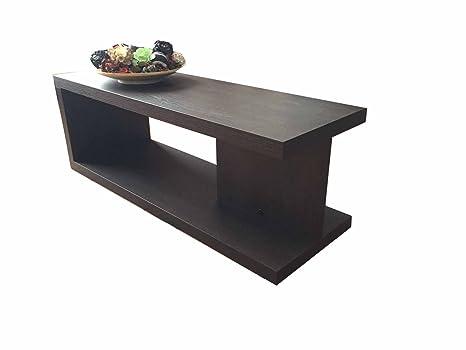 VE.CA-ITALY Tavolino basso salotto moderno in legno Wenge\': Amazon ...