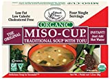 Miso-Cup Organic Traditional Soup with Tofu, Single-Serve Envelopes in 4-Count Boxes, 1.39 oz (Pack of 12)