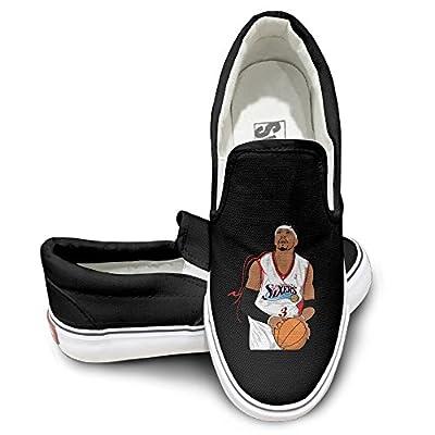 Amone Allen Iverson Casual Unisex Flat Canvas Shoes Sneaker Black