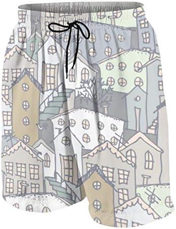 キッズ ビーチパンツ 都市 ウィンター 風景 サーフパンツ 海パン 水着 海水パンツ ショートパンツ サーフトランクス スポーツパンツ ジュニア 半ズボン ファッション 人気 おしゃれ 子供 青少年 ボーイズ 水陸両用