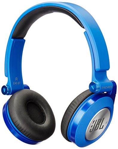 JBL E40BT Blue High-Performance Wireless On-Ear Bluetooth Stereo Headphone, Blue (Best Corded Phone Uk)