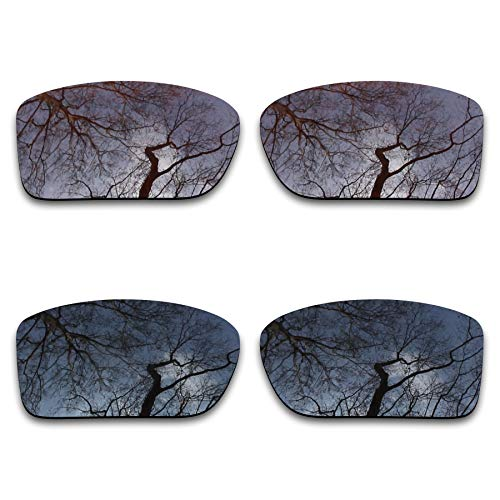 (2 Pair Polarized Lens Replacement for Oakley Double Edge Black&Brown Bronze)