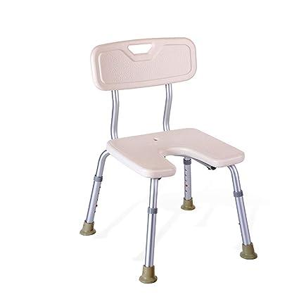 Silla de la cómoda blanca Silla de la silla de baño de aleación de aluminio Silla