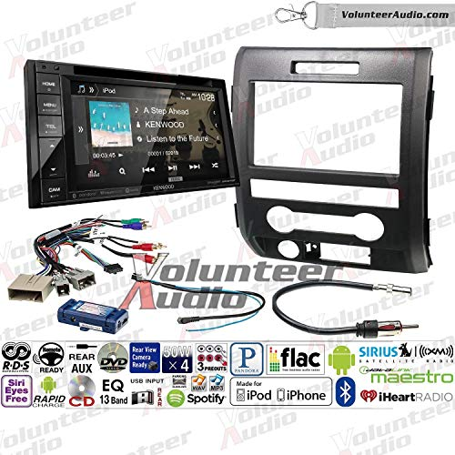 Volunteer Audio Kenwood Ddx276bt Double Din Radio Install Kit With Bluetooth Sirius Xm Ready Touchscreen Fits 2009 2014 F 150