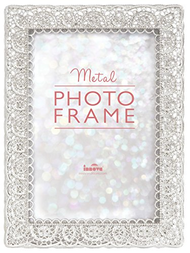 a2030475daa Innova Editions Lace Metal Picture Frame For 7X5Inch (18X13Cm) Photo -  Silver