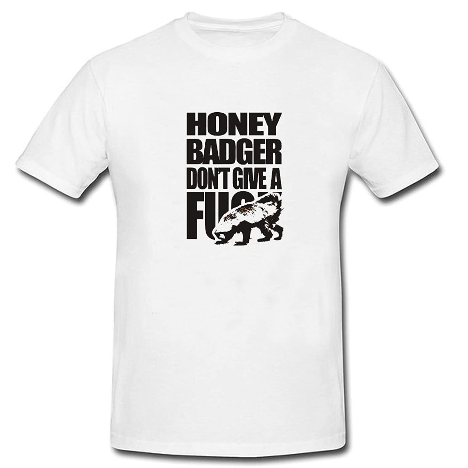 BEOL Honey Badger Don't Give A Shit Athletic Short Sleeve T Shirts White
