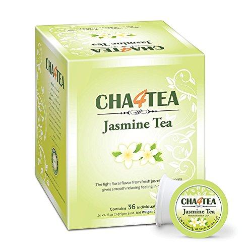 Cha4TEA Keurig K-Cup Jasmine Green Tea, 36 Ct K Cups