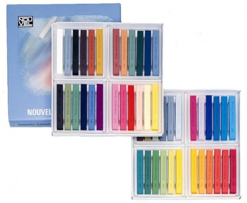 コンテの持味にパステルの長所を加えた色彩材料。 NOUVEL CARRE PASTEL ヌーベルカレーパステル 48色セット NCT-48 486967