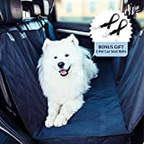 Deluxe waterproof dog car seat cover with 2 dog seat belts – Machine Washable Pet Hammock Car Seat Cover Material with Non-Slip Backing – Extra side flaps – Install less than 1 minute Review