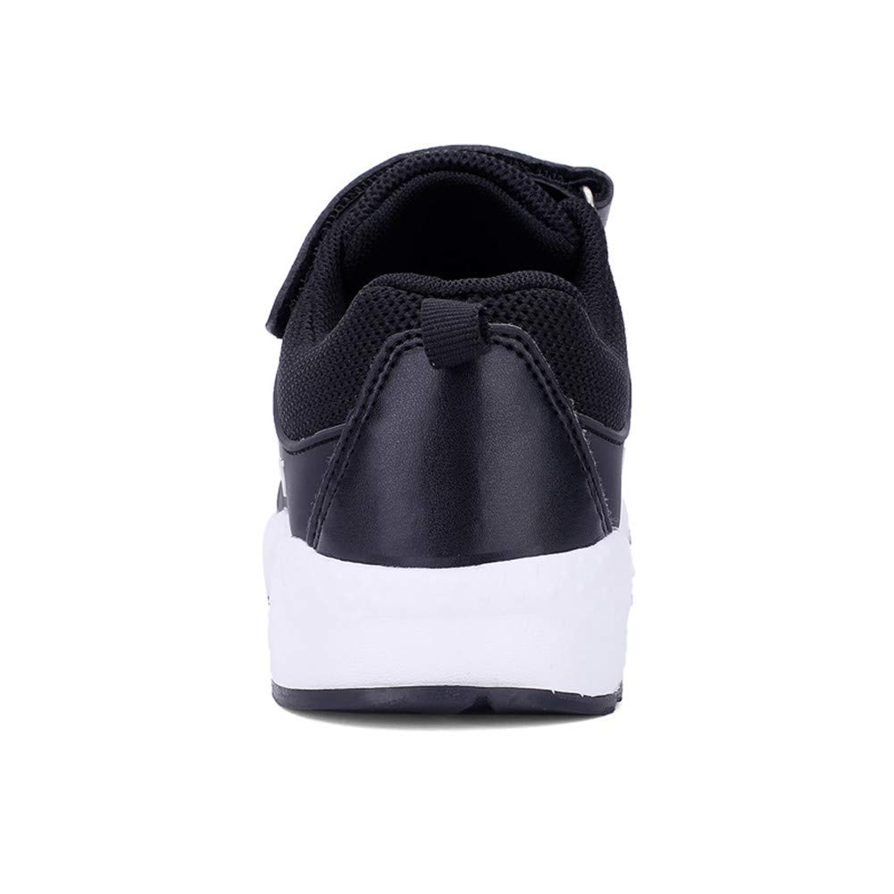 FLORENCE IISA Kids Tennis Shoes Breathable Lightweight Athletic Sports Running Sneakers for Boys & Girls (34, Black1) by FLORENCE IISA (Image #4)