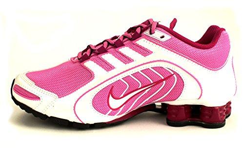 39b5785a628b4f Nike Shox Navina - Womens Red Violet White Black Bright Magenta Size ...