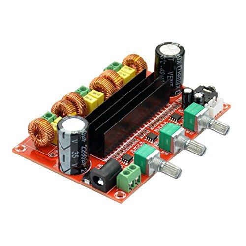 - REES52 DC12V-24V 2.1 Digital Audio Amplifier Board TPA3116D2 Subwoofer Speaker Amplifiers Car Stereo AMP Module for Audio System DIY Speakers(2x50W+100W)