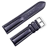 Breitling Style Oil Tanned Leather Watchband | 24mm Black