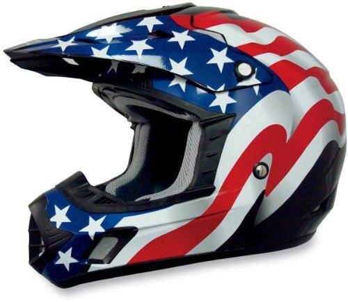 AFX FX-17 Unisex-Adult Off-Road-Helmet-Style Helmet (Flag Black, (Afx Fx 20 Helmets)