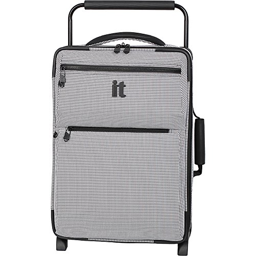Soft Carry On (IT Luggage World's Lightest Los Angeles 21.5 Carry on, Black/White 2)