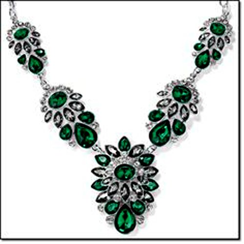 Avon Shine Like a Crystal GreenNecklace Pendant