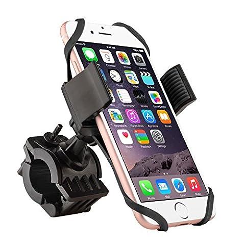 Bike Mount, Insten Bicycle Motorcycle MTB Bike Rack Handlebar Mount Phone Holder Cradle W/ Secure Grip For Apple iPhone X/ 8/ 8 Plus/ 7/ 7 Plus/ 6S Plus, Galaxy On5/ S7 Edge/ S7,LG Nexus 5/V10, - Schwinn Bike Accessories