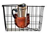 Rocky Mountain Holster Leather Bicycle Cup Holder - Brown