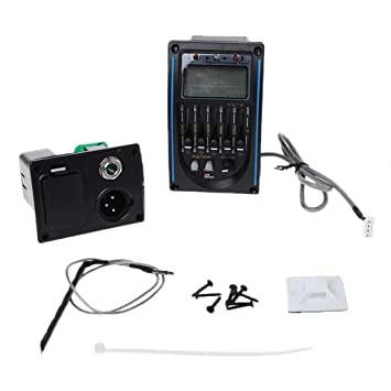 Preamp EQ Ecualizador 5 bandas amplificador de guitarra acústica clásica mezcla sintonizador Piezo Pickup LC 5: Amazon.es: Hogar
