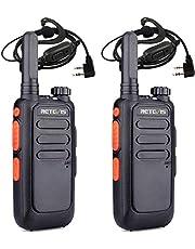Retevis RT669 Mini Walkietalkie, PMR446 Professionele Radio met Headset, USB Oplaadbare 2-Weg Radio met VOX, TOT, Squelch voor Buiten, Vissen, Kamperen(Zwart, 2 Stuks)