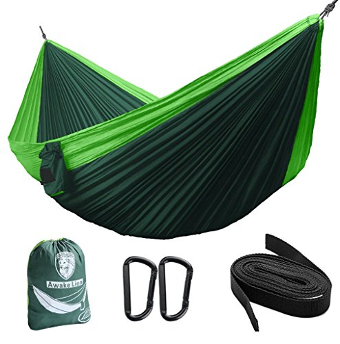 Camping-Hammock-Awakelion-Premium-Outdoor-Double-Hammock-With-Mosquito-Net-and-Hammock-Tree-Straps-Lightweight-Parachute-Fabric-Perfect-for-Hiking-Backpacking-Travel