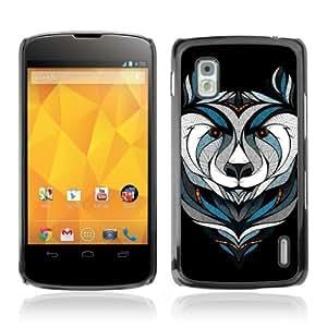 Designer Depo Hard Protection Case for LG Nexus 4 E960 / Cool Bear Tattoo