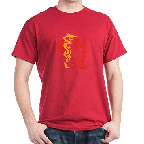 Dragon Art Dark T-shirt (CafePress - Kendo Dragon Dark T-Shirt - 100% Cotton T-Shirt, Crew Neck, Soft and Comfortable Classic Tee with Unique)