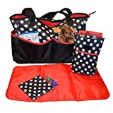 Sharebear Ladies Diaper Bag - The Best Diaper Bag for Baby Boys or Girls. Moms and Dads Will Love the 5 Large Compartments, a Changing Pad, Bottle Bag and a Pacifier Bag. These Beautiful Diaper Bags Are Very Modern Looking and Look More Like a Purse