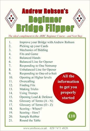 Andrew Robson S Beginner Bridge Flipper Amazon Co Uk Andrew