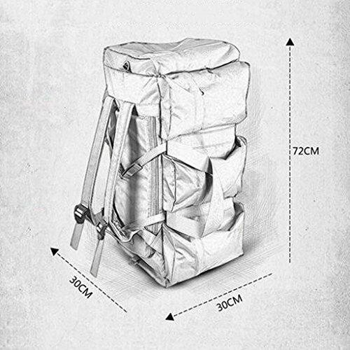 AMOS Al aire libre de gran capacidad portátil bolsa de hombro hombres y mujeres bolsa de equipaje hombro bolsa de viaje corto bolsa de viaje mochila ( Color : CP camouflage ) CP camouflage