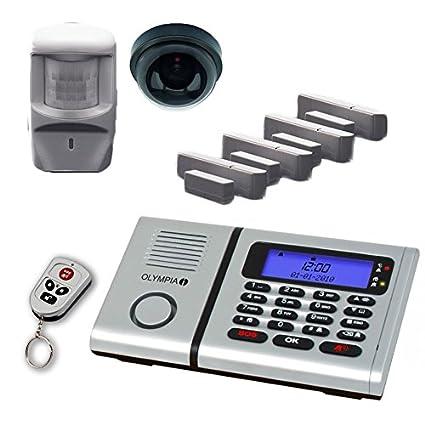 Olympia 6061 inalámbrico de alarma de vigilancia-Set con 1 cámara de la cubierta-