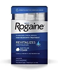 美亚:Rogaine 落健 Hair Regrowth Treatment 男用生发泡沫(60g*3支) $35.62(约¥240)