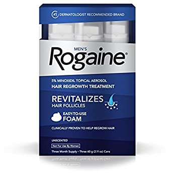Set A Shopping Price Drop Alert For Men's Rogaine Hair Loss & Hair Thinning Treatment Minoxidil Foam, Three Month Supply