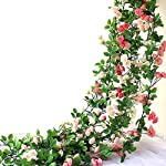 HEJIAYI-63-Inch-Artificial-Rose-Garlands-Decorations-Flowers-Artificial-Silk-Flower-Garlands-for-Wedding-Party-Home-OfficePack-of-3
