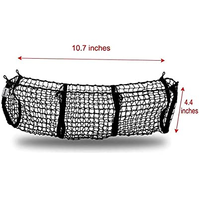 Zento Deals Heavy Duty Stretchable Black Mesh Net Cargo Trunk Storage Organizer- Keeping Things Secured and More Organize: Automotive