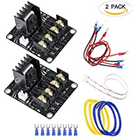 Unime Hot Bed Power Expansion Board Heat Bed Power Module SIMPZIA Add-on MOS Tube High Current Load Module for 3D Printer - 2 Pack