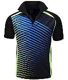 ZITY Mens Polo Shirt Cool Quick-Dry Sweat-Wicking Color Block Short Sleeve Sports Golf Tennis T-Shirt(Bblue-2XL)