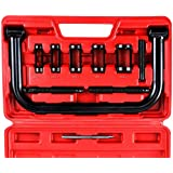 OrionMotorTech 10pcs Solid Valve Spring Compressor, Auto Compression Clamp Tool Service Kit for Motorcycle, ATV, Car, Small Engine Vehicle Equipment