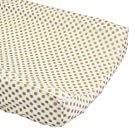 Metallic Glitz Gold Dots Changing Pad Cover - Fits Standard Contoured Changing Pads