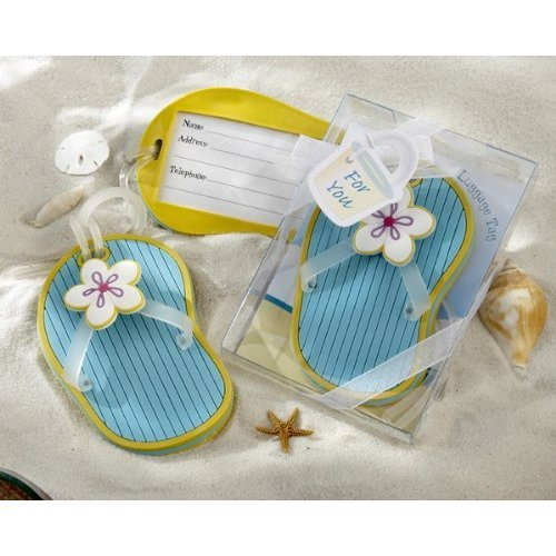 Flip-Flop Luggage Tag in Beach-Themed Gift Box (pack of 40) by