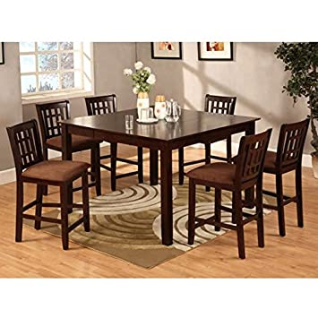 Eleanor 9 Piece Espresso Finish Counter Height Dining Set