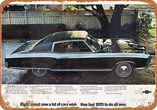 Wall-Color 7 x 10 Metal Sign - 1970 Chevrolet Monte Carlo - Vintage Look