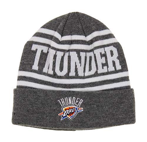 NBA Oklahoma City Thunder Youth 8-20 Cuffed Knit Hat, Grey