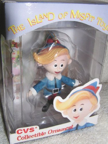 Enesco 1999 CVS Limited Edition Herbie or Hermey The Elf Christmas Ornament from Rudolph and The Island of Misfit Toys