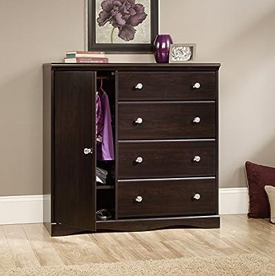 Sauder Woodworking 417419 Pogo Bedroom Chifforobe Wardrobe Dresser Jamocha Wood