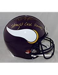 Randy Moss Autographed Vikings F/S Authentic 83-01 Helmet With Straight Cash *U- JSA Authenticated W