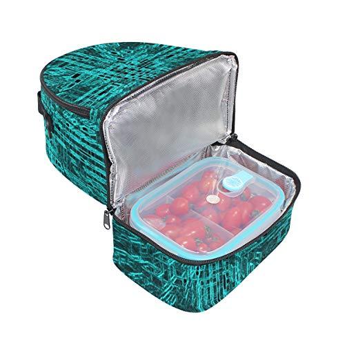 picnic azul almuerzo el para color de ajustable para correa hombro doble Bolso con 6wqp5xv7W