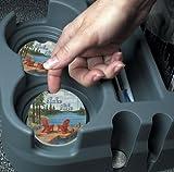 CounterArt Absorbent Stoneware Car Coaster, Lake Life